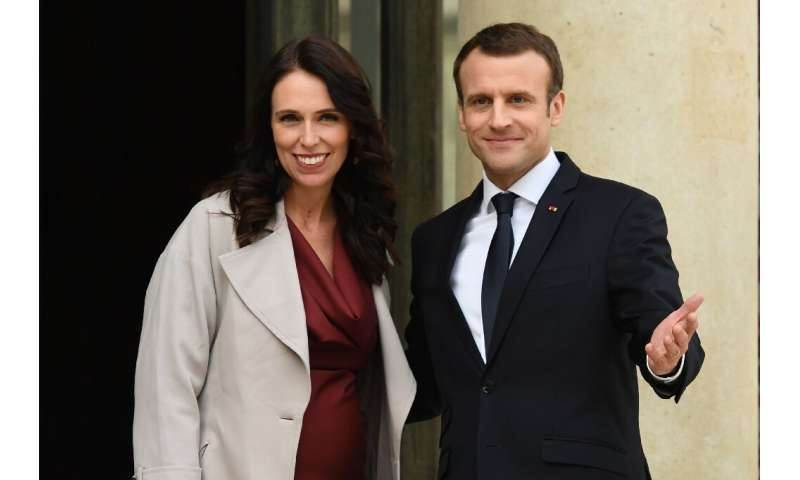 French President Emmanuel Macron and New Zealand Prime Minister Jacinda Ardern are to launch a new initiative aimed at curbing e