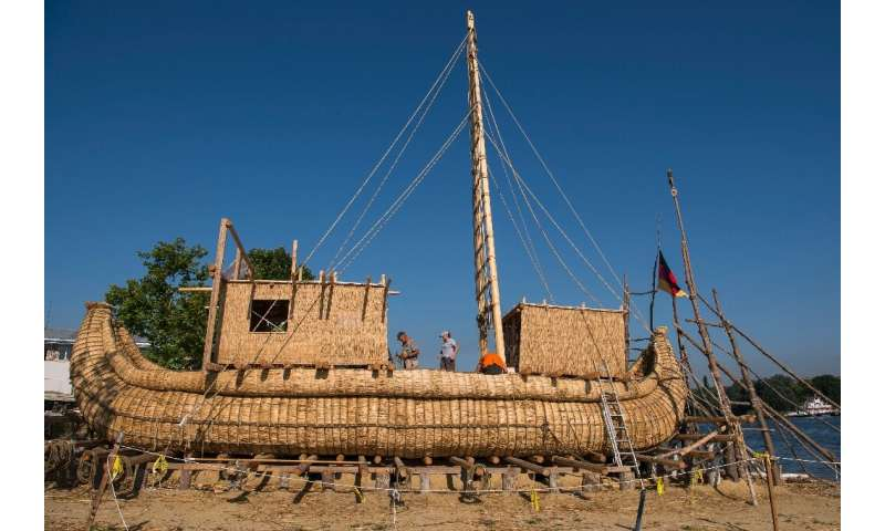 Goerlitz and his team say they drew inspiration for the design of the 14-metre boat from ancient rock drawings from upper Egypt