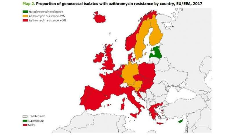 Gonorrhoea: Drug resistance compromises recommended treatment in Europe