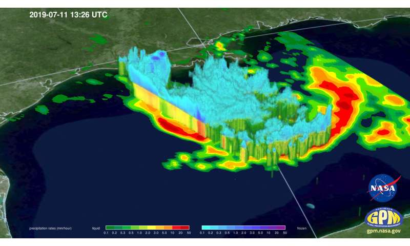 GPM satellite provides a 3D look at Tropical Storm Barry