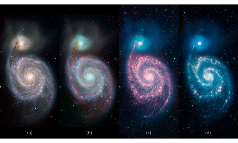 Image: A whirlpool 'Warhol' from NASA's Spitzer telescope