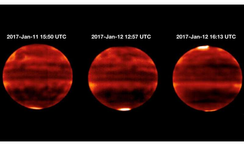 Jupiter's atmosphere heats up under solar wind