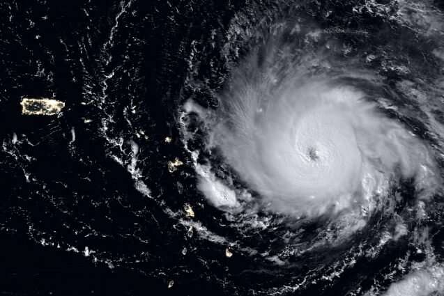 Large volcanic eruptions can alter hurricane strength and frequency
