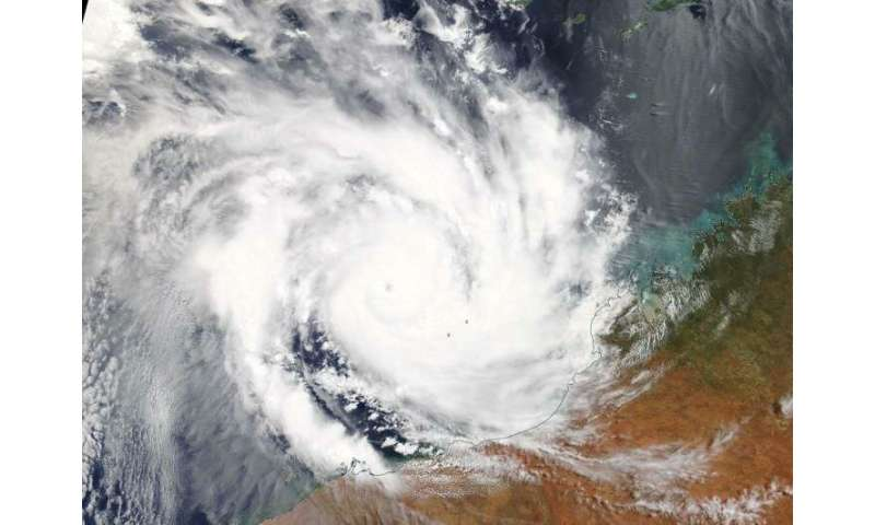 NASA sees Tropical Cyclone Veronica affecting Australia's Pilbara Coast