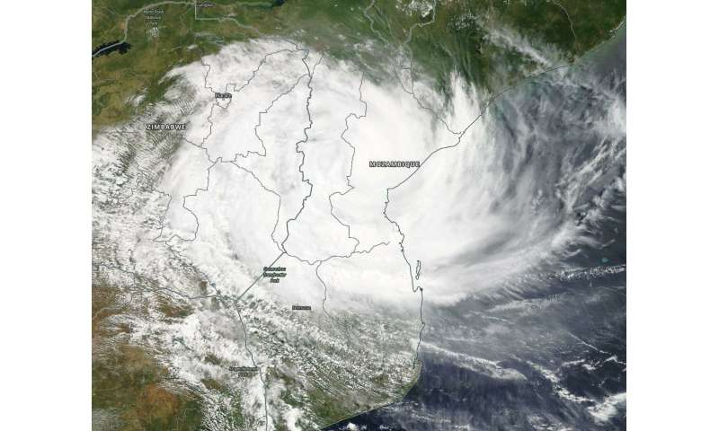 NASA tracks Tropical Cyclone Idai over Mozambique
