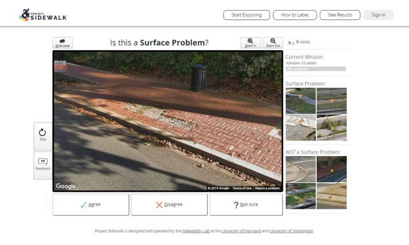 Project Sidewalk helps users map accessibility around Seattle and other cities