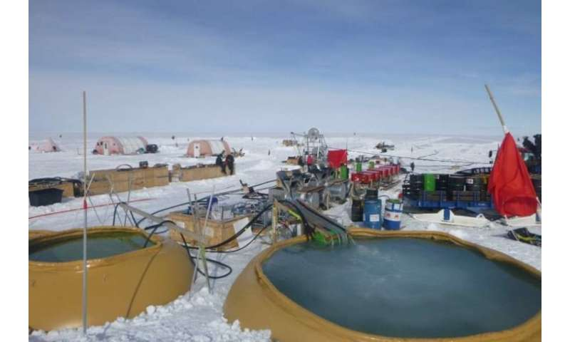 Scientists drill to record depths in West Antarctica