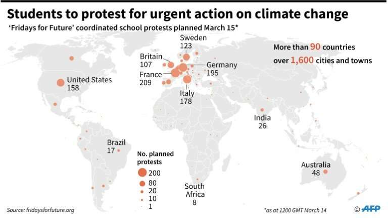 Students to protest for urgent action on climate change