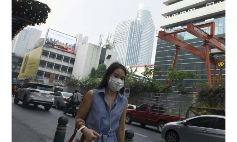 Thais woke up Monday morning to another day of murky air blanketing Bangkok