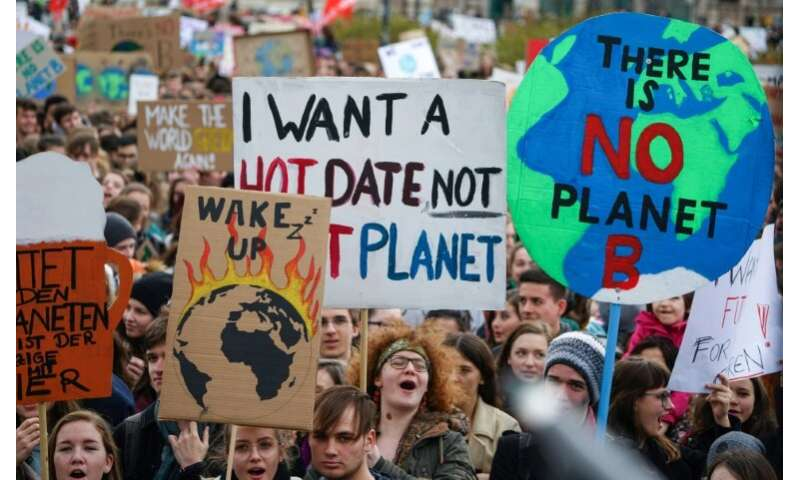 The global demonstrations were started by a 16-year-old Swedish student who began skipping school to protest last year