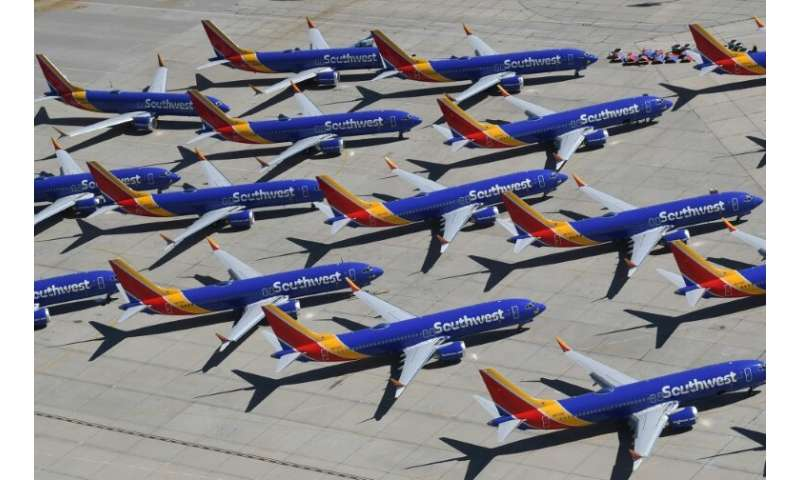 The global fleet of Boeing 737 MAX planes has been grounded, including those owned by Southwest Airlines, seen here last month i