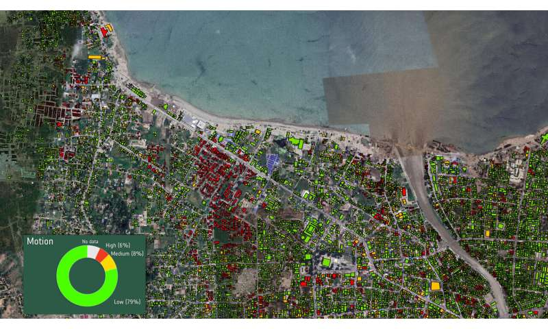 Using satellite information to rebuild after a disaster