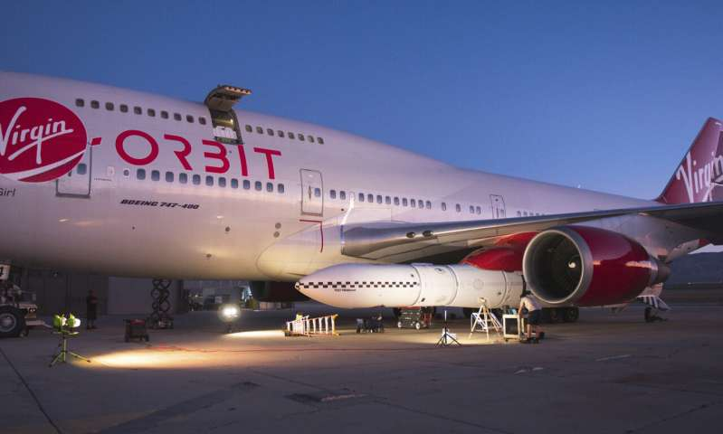 Virgin Orbit conducts drop-test of rocket from Boeing 747