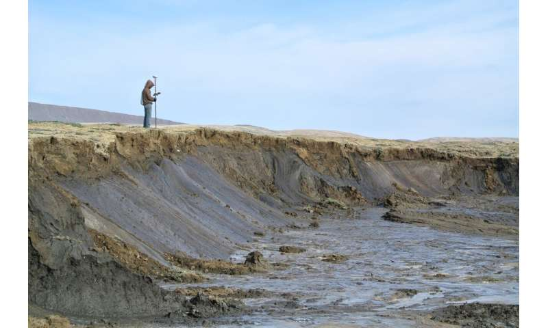 Widespread permafrost degradation seen in high Arctic terrain