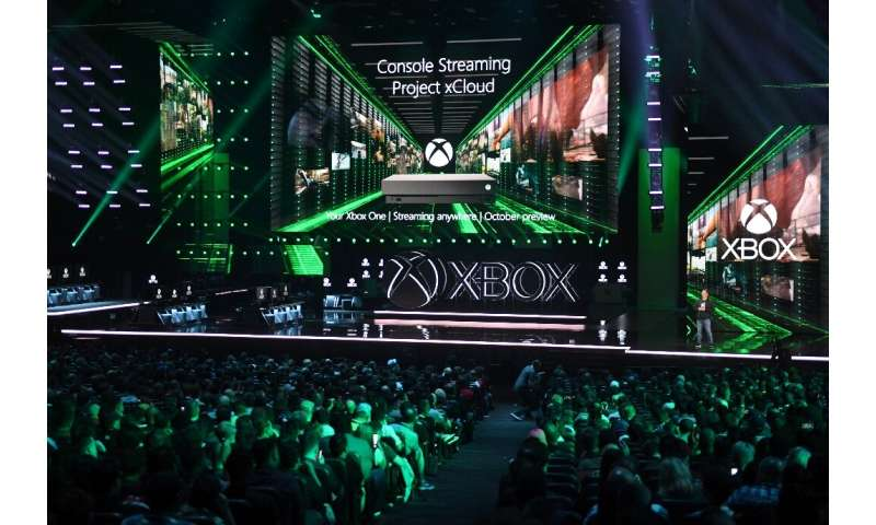 Xbox head Phil Spencer announces the new Xbox Console Streaming and Project xCloud console at a press event ahead of the E3 gami