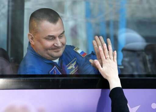 US-Russian crew blasts off to International Space Station