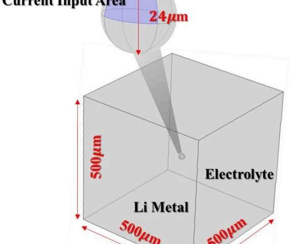 Development of 3D particle model for single particles in battery electrodes