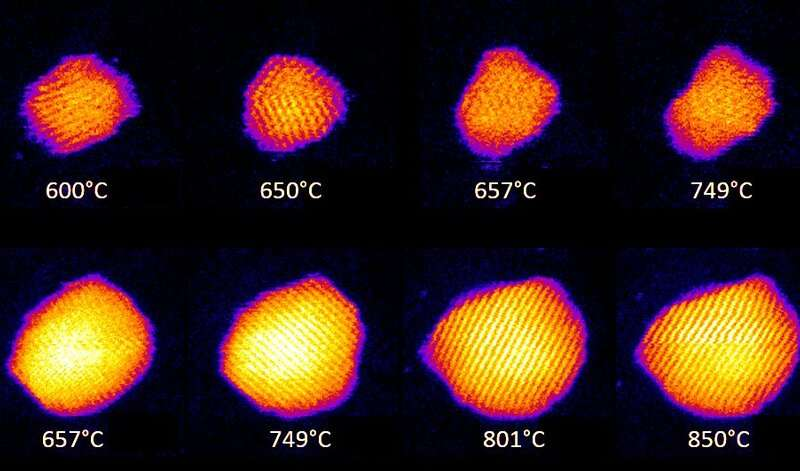 Research reveals liquid gold on the nanoscale