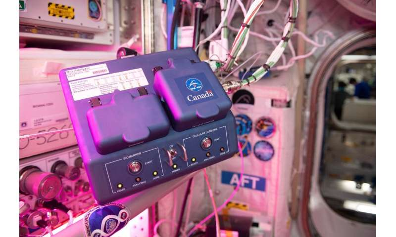 Analyze this: Space station facility enables rapid biomedical analysis
