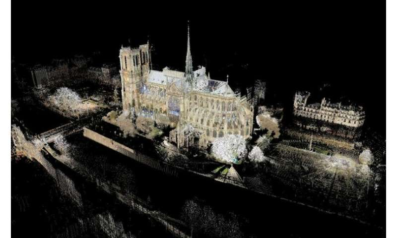 Art professor Andrew Tallon's laser scan of the Notre-Dame cathedral