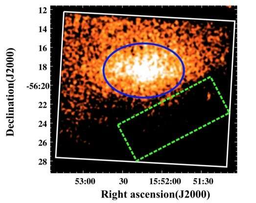 Astronomers take a closer look at emission from the supernova remnant MSH 15−56
