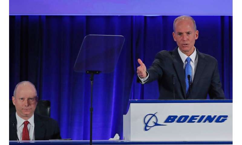 Boeing Chief Executive Dennis Muilenburg acknowledged implementation problems on the 737 MAX, but said the design of the plane i