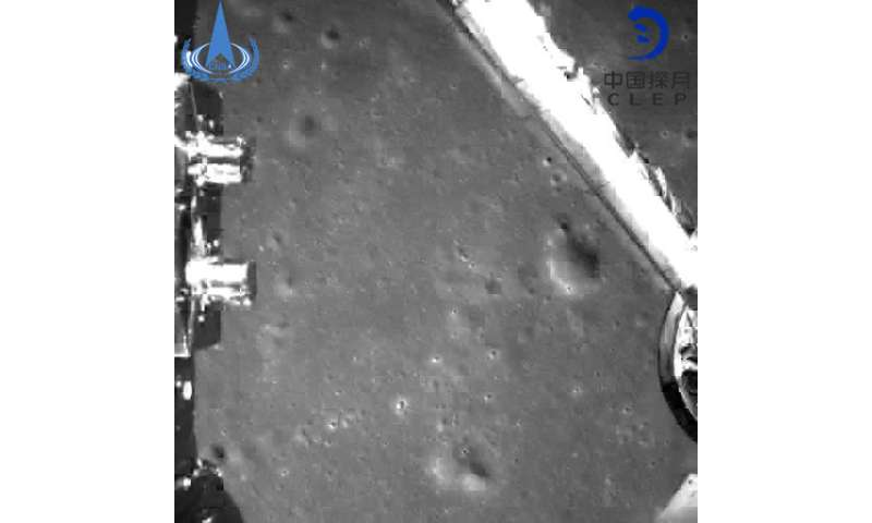 d27cf84fd9ce 3, 2019, by China National Space Administration via Xinhua News Agency  shows an image taken by China's Chang'e-4 probe during its landing process.