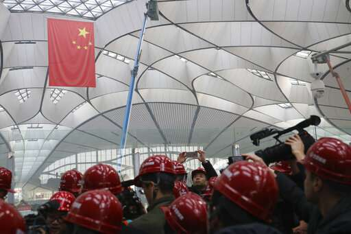China touts engineering feats of new international airport