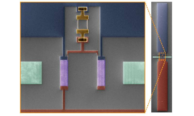Coupling qubits to sound in a multimode cavity
