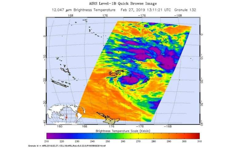 NASA catches Tropical Cyclone Pola near Fiji