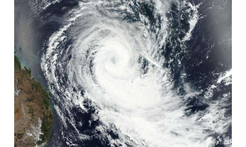 NASA-NOAA satellite looks at large-eyed Tropical Cyclone Oma