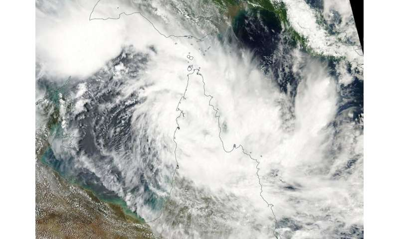 NASA tracks Tropical Cyclone Trevor approaching Australia's Cape York Peninsula