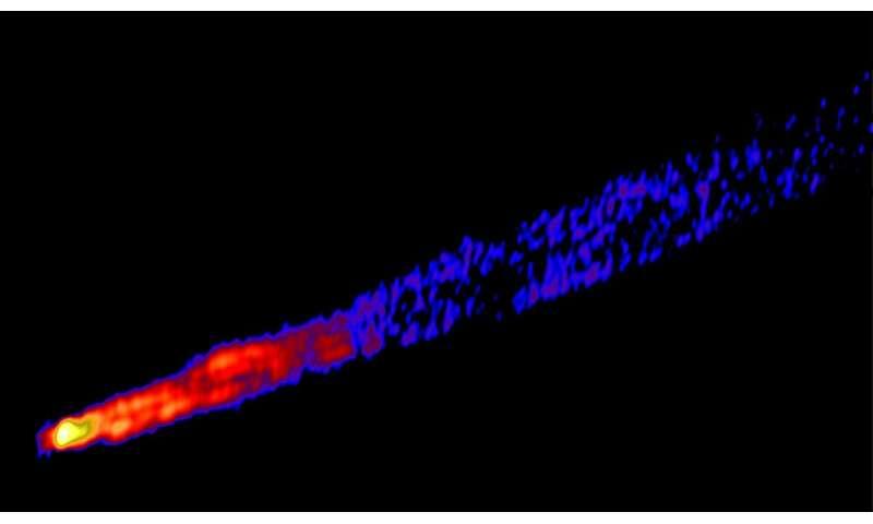 Quasar jets confuse orbital telescope