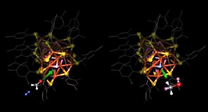 Researchers have discovered how a nanocatalyst works at the atomic level