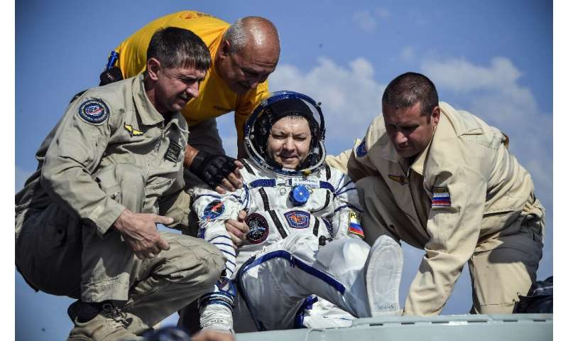 "Russian cosmonaut Oleg Kononenko joked that he was ""happy to see any kind of weather"" after coming back from space"