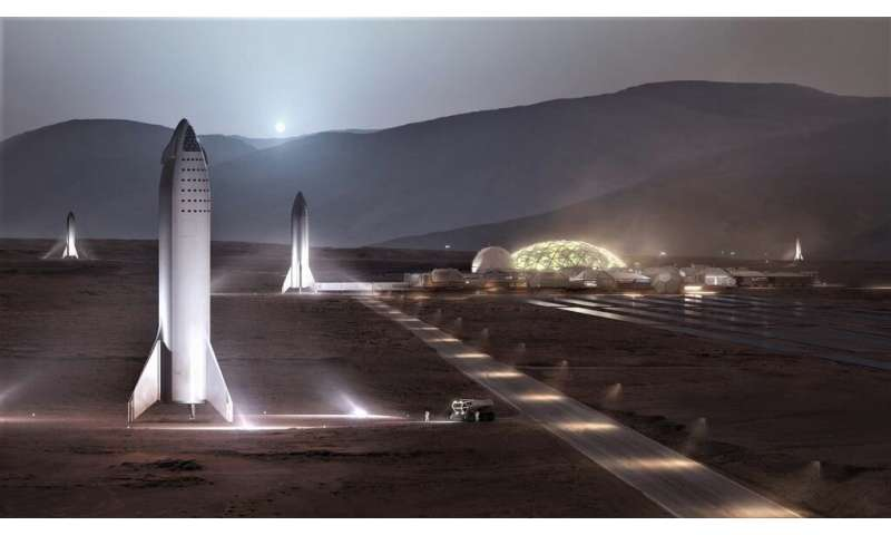 SpaceX releases a new render of what the all-steel Starship will look like returning to earth