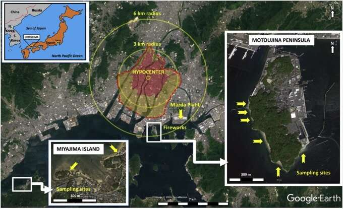 Study: Glassy menagerie of particles in beach sands near Hiroshima is fallout debris