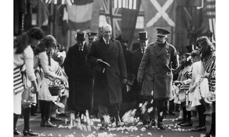 The importance of watching the health of a U.S. President: the Spanish flu and a flawed peace treaty