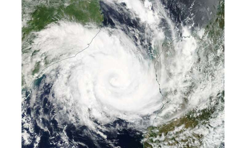 Tropical Cyclone Idai seen in Mozambique channel by NASA's Terra Satellite
