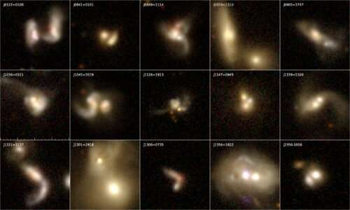 Astronomers discover eight buried dual AGN candidates