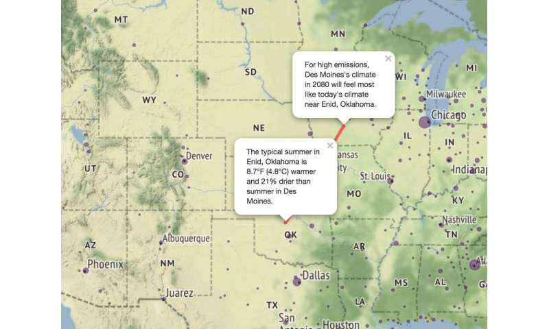 Climate change could make Iowa temps feel like Oklahoma cities by 2080