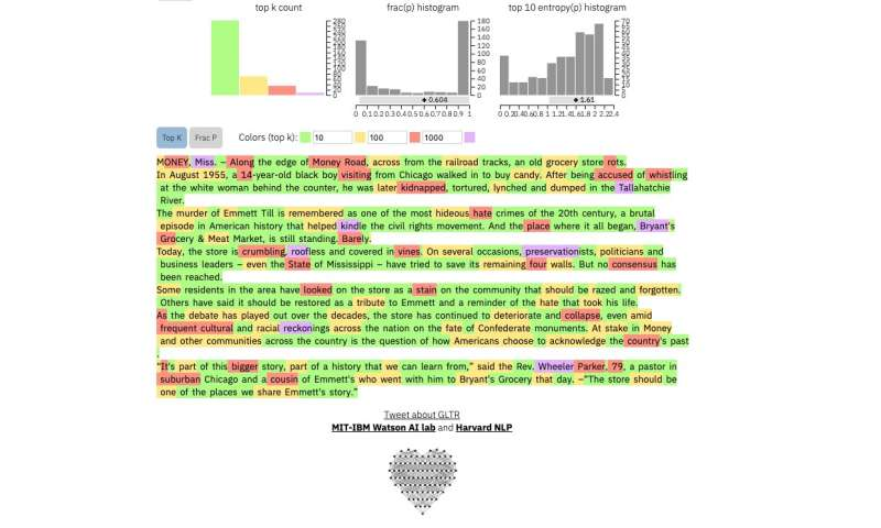 Researchers develop a method to identify computer-generated text