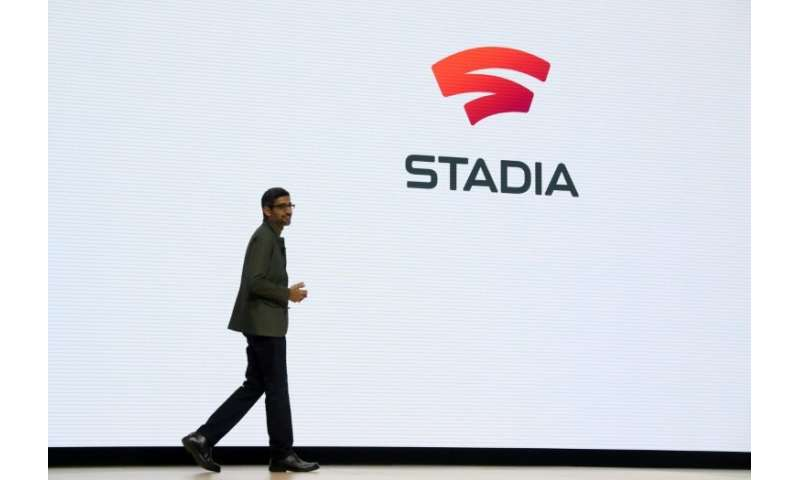 Google CEO Sundar Pichai as the tech giant announced Stadia, a new streaming service that allows players to play games online wi