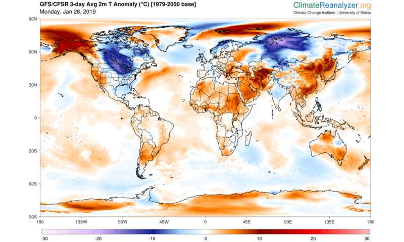 How frigid polar vortex blasts are connected to global warming