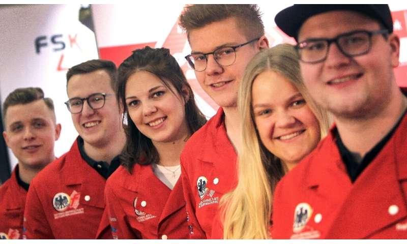 Members of the German national team of butchers