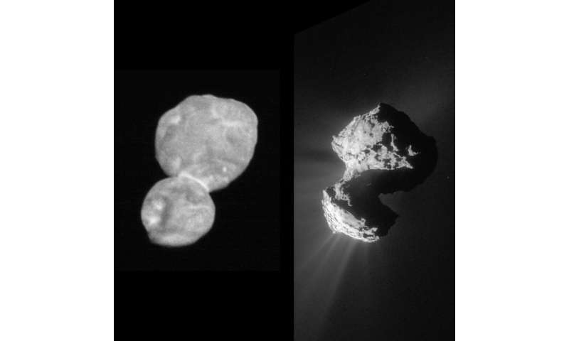 Rosetta's comet sculpted by stress
