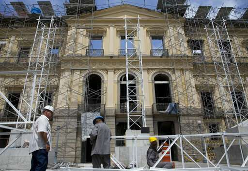 Slow-going restoration at fire-gutted Brazilian museum