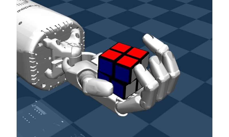 Solving a Rubik's cube with a dexterous hand