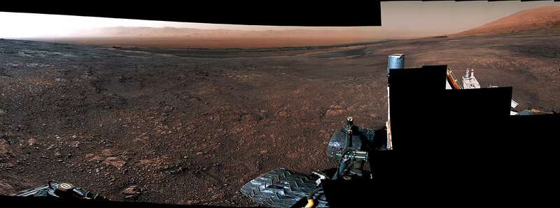 360 Video: Curiosity rover departs Vera Rubin Ridge