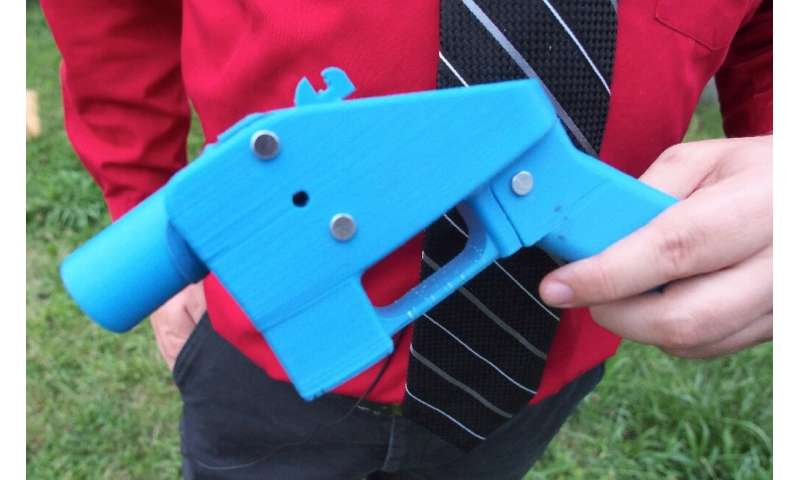 3D printing technology has made it possible for people to make complex objects—including plastic firearms, such as this one prod